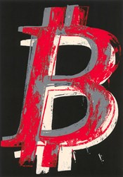 Bitcoin (Black) by Mr. Brainwash - Limited Edition on Paper sized 18x24 inches. Available from Whitewall Galleries