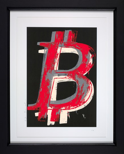 Bitcoin (Black) by Mr. Brainwash - Framed Limited Edition on Paper