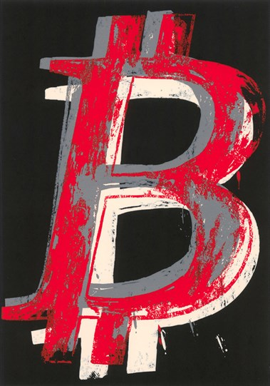 Bitcoin (Black) by Mr. Brainwash - Limited Edition on Paper